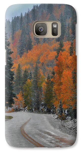 Galaxy Case featuring the photograph Early Snow by Dana Sohr