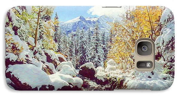 Galaxy Case featuring the photograph Early Snow by Eric Glaser