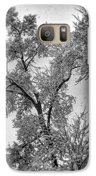 Galaxy Case featuring the photograph Early Snow by Steven Huszar