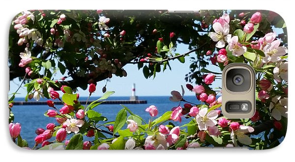 Galaxy Case featuring the photograph Early Spring Blossoms At The Waterfront by Wendy Shoults