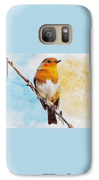 Galaxy Case featuring the painting Early Spring by Greg Collins