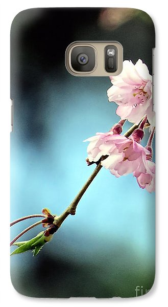 Galaxy Case featuring the photograph Early Spring Weeping Cherry  by Janice Drew