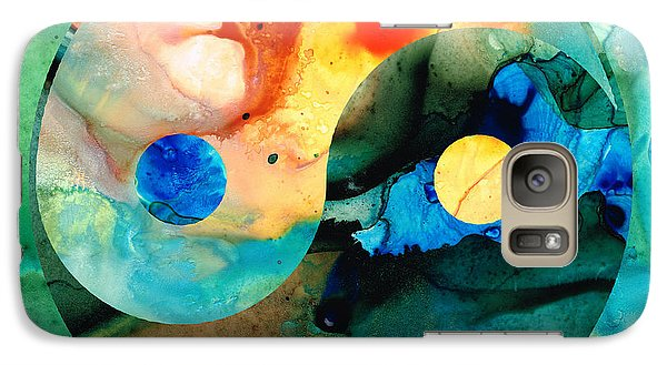 Earth Balance - Yin And Yang Art Galaxy Case by Sharon Cummings