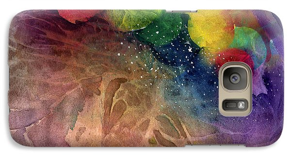 Galaxy Case featuring the painting Earth Emerging by Allison Ashton