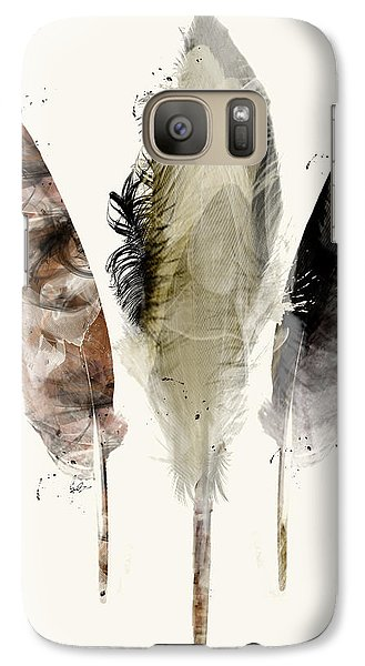Galaxy Case featuring the painting Earth Feathers by Bri B