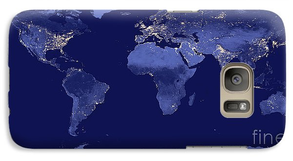 Galaxy Case featuring the photograph Earth From Space by Delphimages Photo Creations