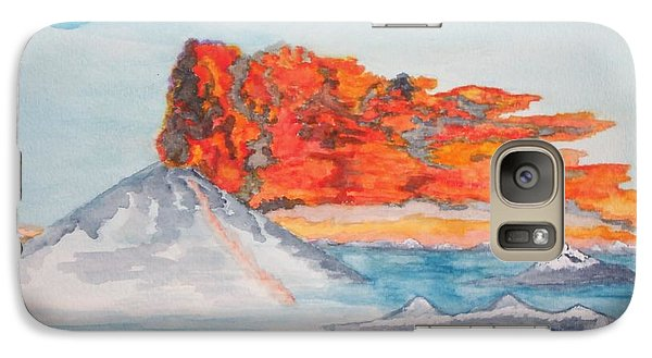 Galaxy Case featuring the painting Earth In Action by Connie Valasco