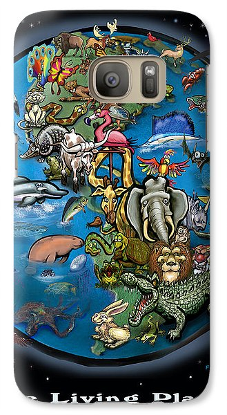 Galaxy Case featuring the painting Earth by Kevin Middleton