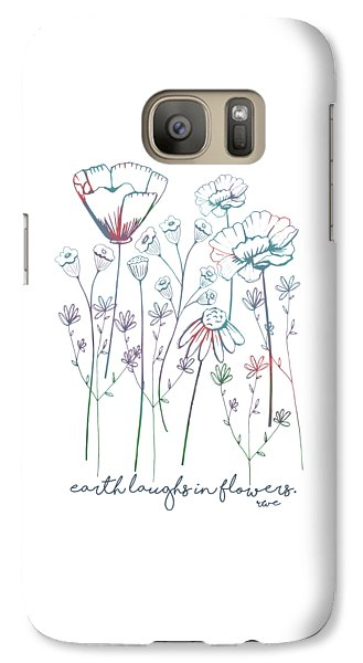 Galaxy Case featuring the digital art Earth Laughs In Flowers by Heather Applegate