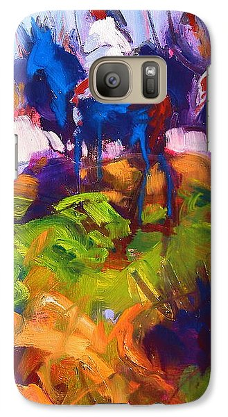 Galaxy Case featuring the painting Earth People by Les Leffingwell
