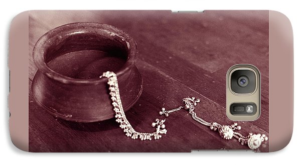 Galaxy Case featuring the photograph Earthen Pot And Silver by Mukta Gupta