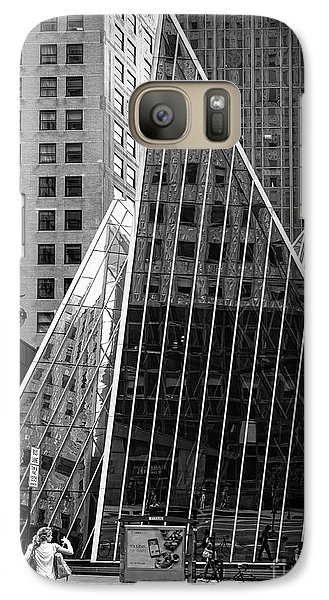 Galaxy Case featuring the photograph East 42nd Street, New York City  -17663-bw by John Bald