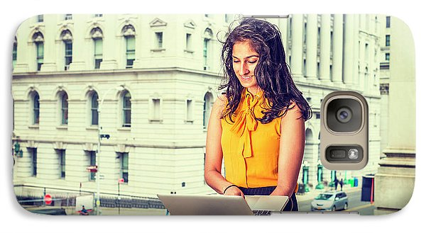 East Indian American Businesswoman In New York Galaxy S7 Case