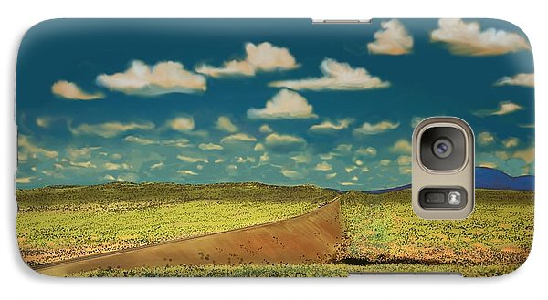 Galaxy Case featuring the digital art East Of Flagstaff Arizona by Kerry Beverly
