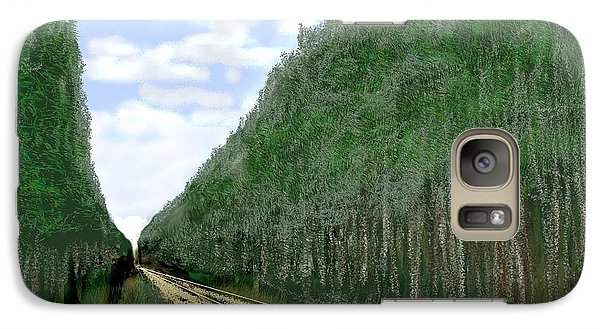Galaxy Case featuring the digital art East Texas Pine Cut by Kerry Beverly