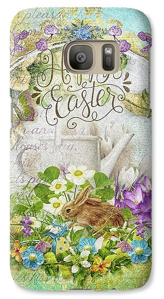 Galaxy Case featuring the mixed media Easter Breakfast by Mo T