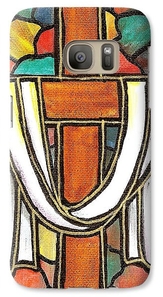 Galaxy Case featuring the painting Easter Cross 6 by Jim Harris
