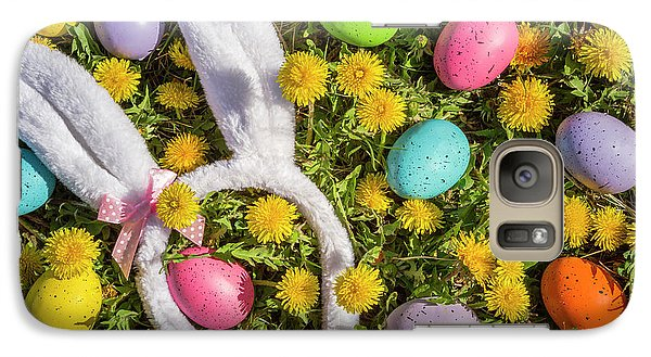 Galaxy Case featuring the photograph Easter Eggs And Bunny Ears by Teri Virbickis