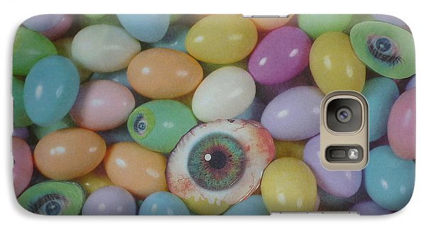 Galaxy Case featuring the mixed media Easter Eyes by Douglas Fromm