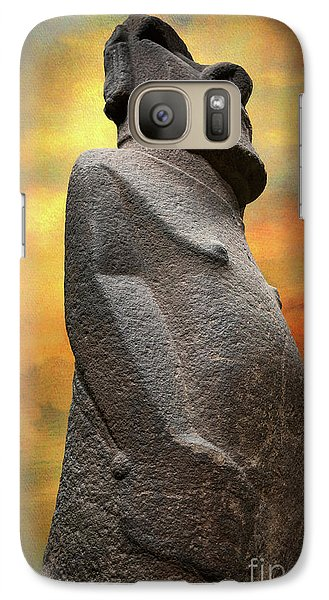 Galaxy Case featuring the photograph Easter Island Moai by Adrian Evans