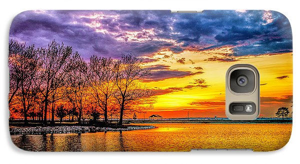 Galaxy Case featuring the photograph Easter Sunset At Riverview Beach Park by Nick Zelinsky
