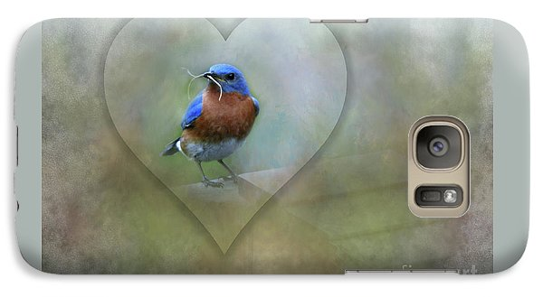 Galaxy Case featuring the photograph Eastern Bluebird by Brenda Bostic