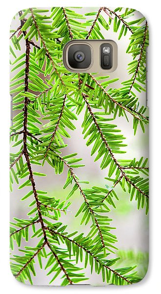 Galaxy S7 Case featuring the photograph Eastern Hemlock Tree Abstract by Christina Rollo