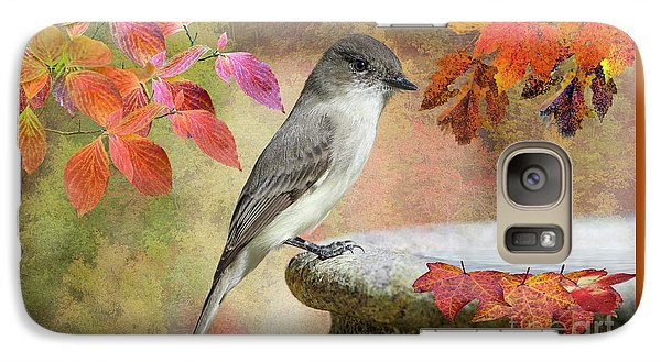 Galaxy Case featuring the photograph Eastern Phoebe In Autumn by Bonnie Barry