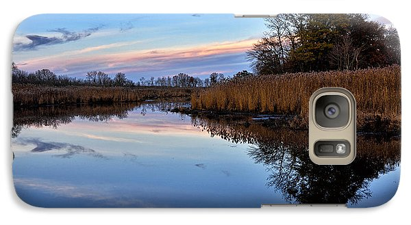 Galaxy Case featuring the photograph Eastern Shore Sunset - Blackwater National Wildlife Refuge by Brendan Reals