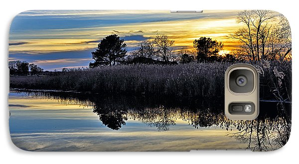 Galaxy Case featuring the photograph Eastern Shore Sunset - Blackwater National Wildlife Refuge - Maryland by Brendan Reals