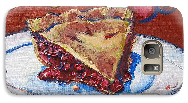 Galaxy Case featuring the painting Easy As Pie by Tilly Strauss