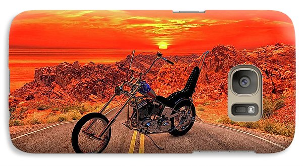 Galaxy Case featuring the photograph Easy Rider Chopper by Louis Ferreira