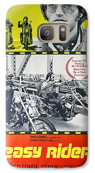 Easy Rider Movie Lobby Poster  1969 Galaxy S7 Case by Daniel Hagerman