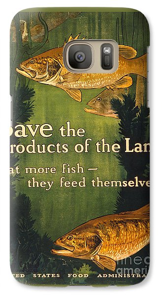 Galaxy Case featuring the photograph Eat More Fish Vintage World War I Poster by John Stephens