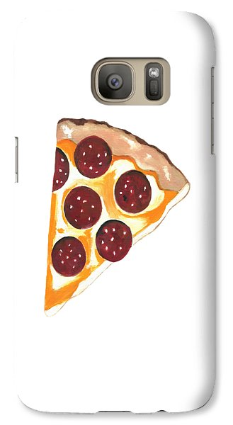 Galaxy Case featuring the mixed media Eat Pizza by Kathleen Sartoris