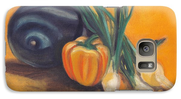 Galaxy Case featuring the painting Eat Your Vegetables by Shawna Rowe