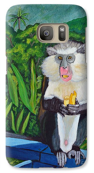 Galaxy Case featuring the painting Eating A Banana by Laura Forde