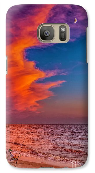 Galaxy Case featuring the photograph Evening Fishing On The Beach by Nick Zelinsky