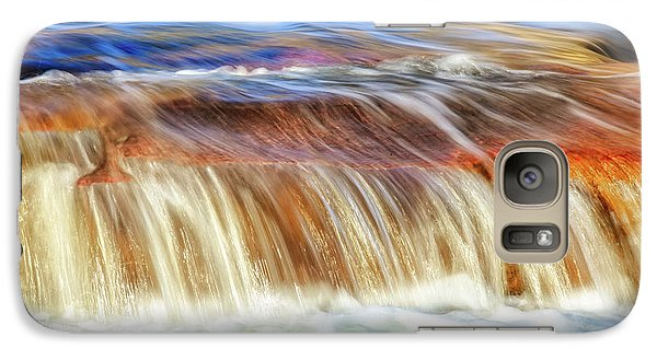 Galaxy Case featuring the photograph Ebb And Flow, Noble Falls by Dave Catley