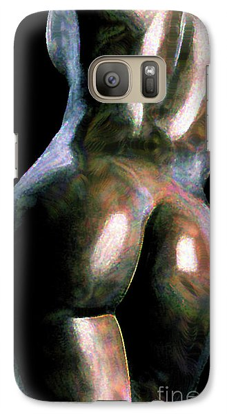 Galaxy Case featuring the painting Ebony by Tbone Oliver