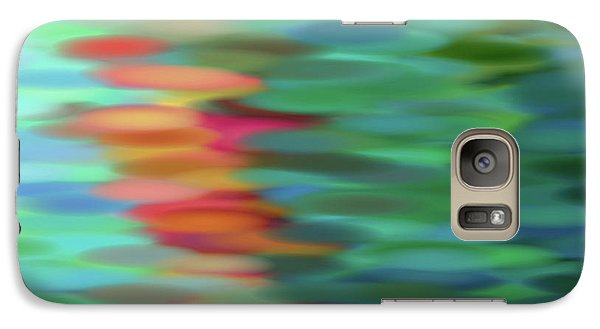 Galaxy Case featuring the mixed media Echo by Tom Druin