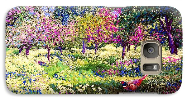 Apple Galaxy S7 Case - Echoes From Heaven, Spring Orchard Blossom And Pheasant by Jane Small