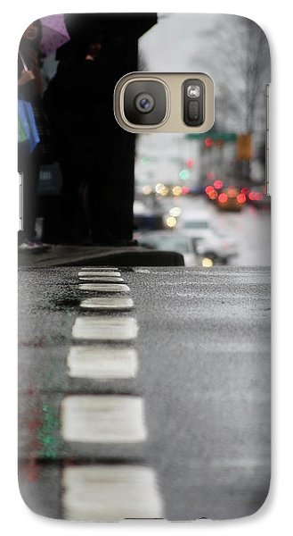 Galaxy Case featuring the photograph Echoes In The Rain Drops  by Empty Wall