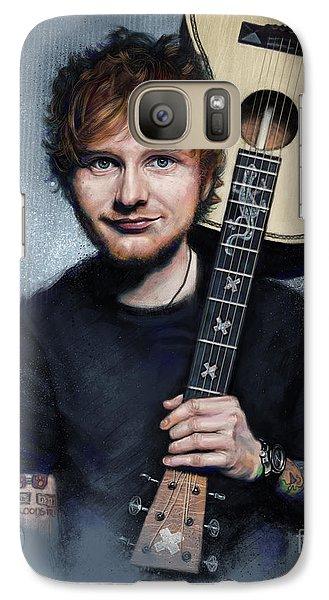 Folk Art Galaxy S7 Case - Ed Sheeran by Andre Koekemoer