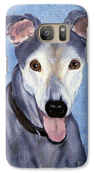 Galaxy Case featuring the painting Eddie - Greyhound by Terri Mills
