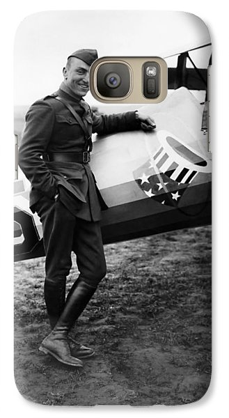 Airplanes Galaxy S7 Case - Eddie Rickenbacker - Ww1 American Air Ace by War Is Hell Store