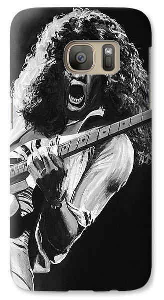 Eddie Van Halen - Black And White Galaxy S7 Case by Tom Carlton