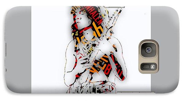 Eddie Van Halen Everybody Want's Some Lyrics Galaxy Case by Marvin Blaine