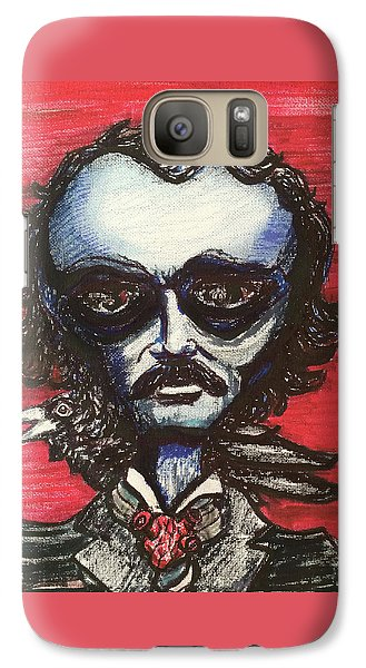 Galaxy Case featuring the painting Edgar Alien Poe by Similar Alien