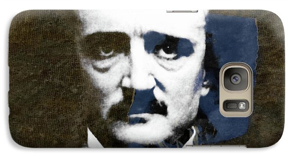 Galaxy Case featuring the mixed media Edgar Allan Poe  by Paul Lovering